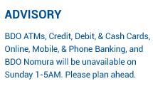 Promos | BDO Unibank, Inc