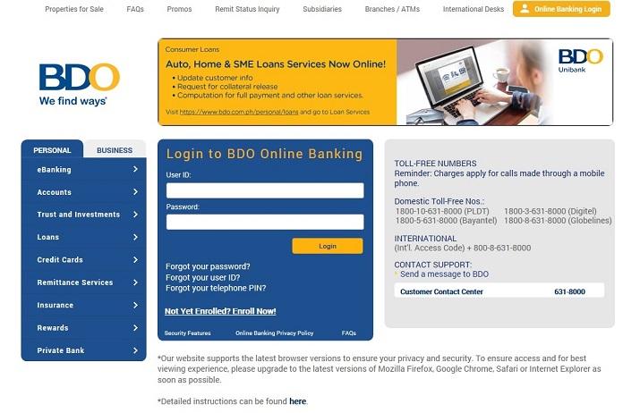 Security Management Bdo Unibank Inc
