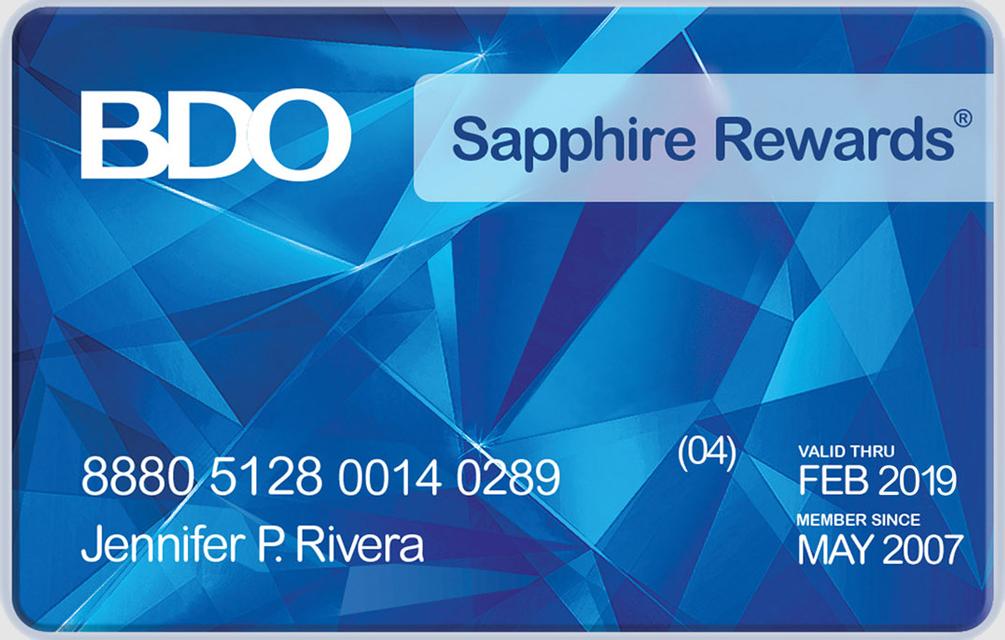 Rewards Card Requirements Bdo Unibank Inc